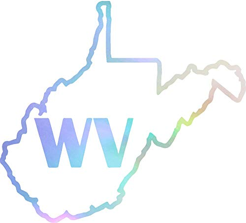 Home State WEST Virginia (Hologram) (Set of 2) Premium Waterproof Vinyl Decal Stickers for Laptop Phone Accessory Helmet Car Window Bumper Mug Tuber Cup Door Wall Decoration ()