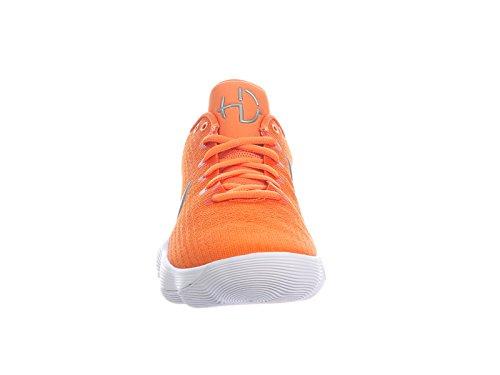 Nike Hommes Réagissent Hyperdunk 2017 Bas Synthétique Chaussures De Basket-ball Argile Orange / Argent Métallique / Blanc