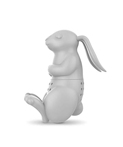 Fred 5216930 BREW BUNNY Rabbit Silicone Tea Infuser, Gray ()