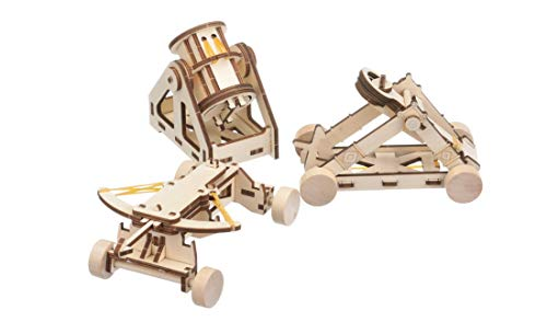 311n 7f42NL - NATIONAL GEOGRAPHIC - Da Vinci's DIY Science & Engineering Construction Kit - Build Three Functioning Wooden Models: Catapult, Bombard & Ballista