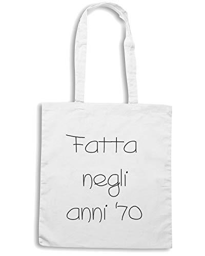 NEGLI Speed TDM00075 Bianca Shirt ANNI 70 Borsa FATTA Shopper FFYHU
