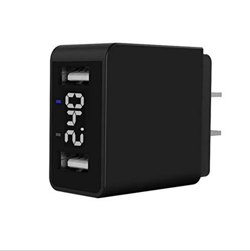 NEXGADGET Cargador USB de Pared y Carga Rápida con Pantalla LED Digital y Doble USB QC 3.0 5V Puerto Único 2.4A para...