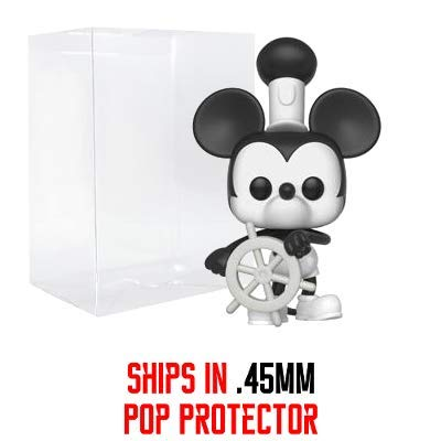 (Funko Steamboat Willie Mickey Mouse: Mickey's 90th Anniversary x POP! Disney Vinyl Figure & 1 PET Plastic Graphical Protector Bundle [#425 / 32182 - B])
