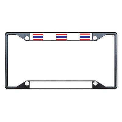 THAILAND FLAG COUNTRY Metal License Plate Frame Tag Holder