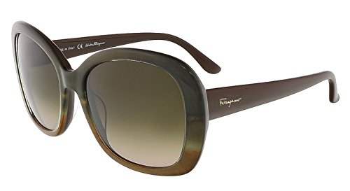 Salvatore Ferragamo Womens Oversized Gradient Oval Sunglasses Brown - Sunglasses Ferragamo Salvatore