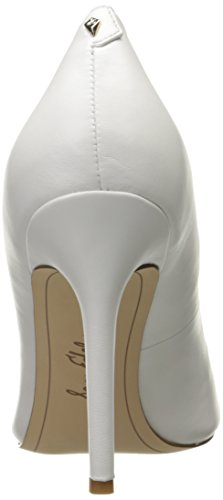 Femme Edelman Blanc White Escarpins Bright Hazel Sam Leather xtwqRq