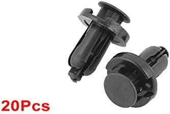 sourcingmap/® Auto parafango porta foro da 8 mm 0,31 dia Rivetti a pressione plastica graffe ritegno 30 pz