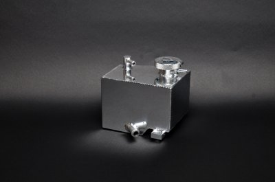 Weapon-R 826-139-101 Coolant Reserve Tank with Pressure Cap, Polished Aluminum
