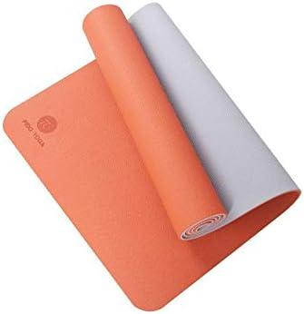 Eco friendly エコヨガマットスポーツアンチスキッドマット最適化されたクッションエクササイズマット、女性に適したメンズフィットネス exercise (色 : Orange, サイズ : 183*61*0.6)