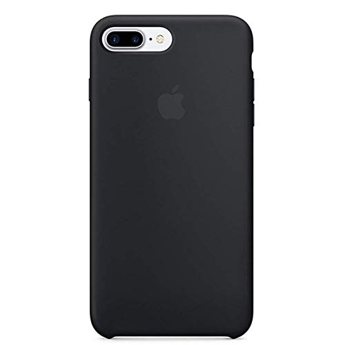 Anti-Drop iPhone 8 Plus / 7 Plus (5.5Inch) Liquid Silicone Gel Case, TOSHIELD Soft Microfiber Cloth Lining Cushion for iPhone 8 Plus and 7Plus (Black) ()