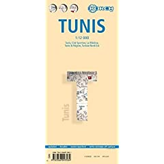 Tunis Laminated Map (B&B) 1:12 000 (English, French and German Edition) Berndtson & Berndtson