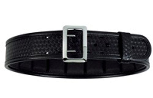 Bianchi 7965 Black Ergotek Sam Browne Belt with Chrome (Size - Duty Belt Sam Brown
