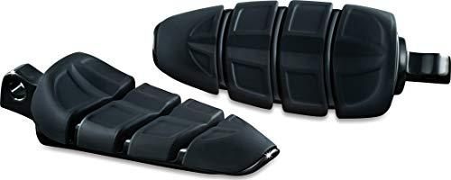 Kuryakyn 4317 Motorcycle Footpegs: Kinetic Pegs with Male Mount Adapters, Gloss Black, 1 Pair