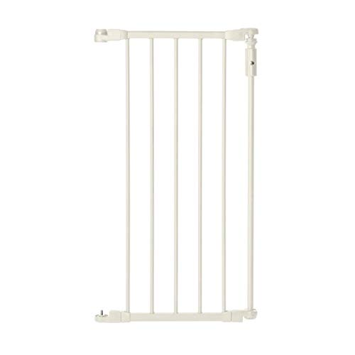 Deluxe Décor Single Panel Gate Extension by North Gates: Extension forDeluxe Décor 30 in. Gate, Ivory Collection (Adds up to 15 width, Soft white)