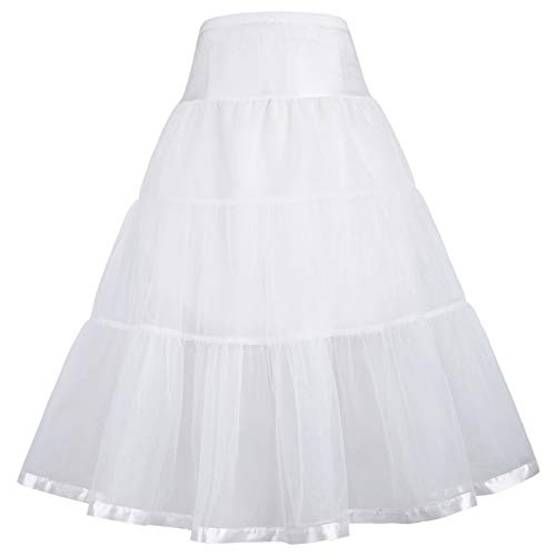 GRACE KARIN Vintage 50s Rockabilly Tutu Petticoat Crinoline Underskirt for Little Girls 6-7Y CL036-2