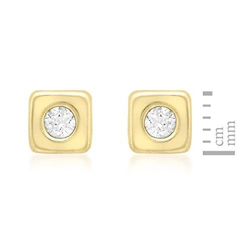 Carissima Gold - Boucles d'Oreille - 1.57.4363 - Femme - Or Jaune 375/1000 (9 Cts) 0.43 Gr - Oxyde de zirconium