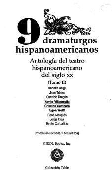 9 Dramaturgos Hispanoamericanos Antologia del Teatro del...