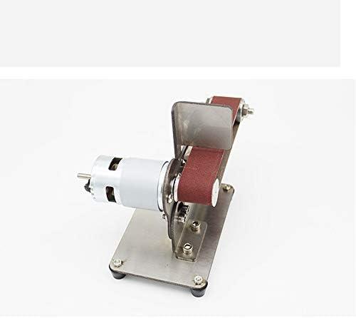 DC 12-24V DIY Electric Multi-Function Sander Small Grinding Machine Bench polishing Machine Micro polishing Machine Mini Belt Machine 7000 RPM