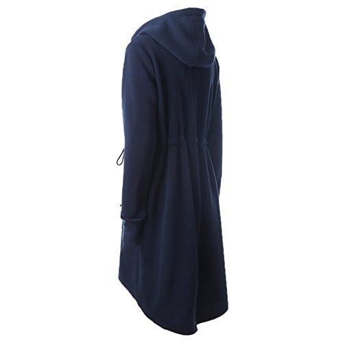 Capucha Outerwear Otoño Largo Café S Gris Invierno Sweatshirt Outfit Azul Negro Cremallera Chaqueta Oscuro 2xl Caqui Yying Abrigo Capa Larga 4vqWP