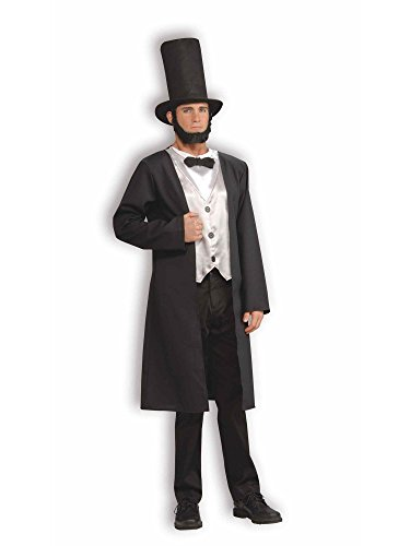 Forum Patriotic Party Collection Abraham Lincoln Costume, Black, Standard -