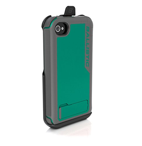 (Ballistic EV0890-M125 Every1 Case for iPhone 4/4S - 1 Pack - Retail Packaging - Gray/Green )