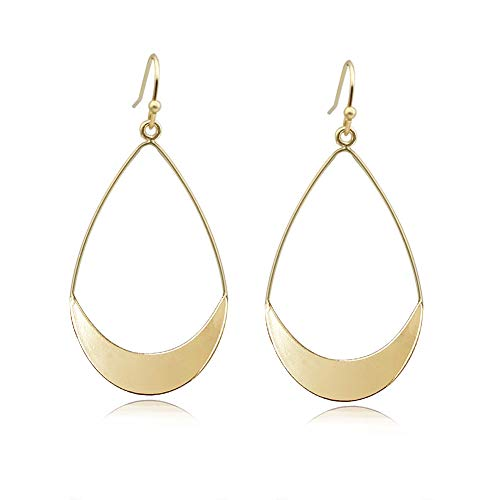 Lightweight Dangle Earrings Simple Earrings Gold Teardrop Earrings for Women