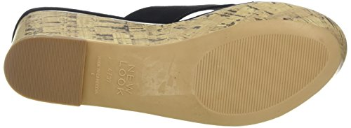 New Look Prolong 2, Sandalias Mujer Negro (01/Black)