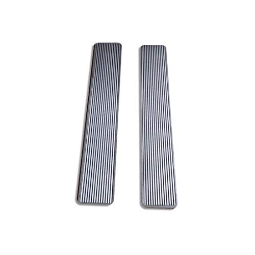 Billet Grooved - Billet Aluminum 30 Inch Step Plates with Grooved Step Insert
