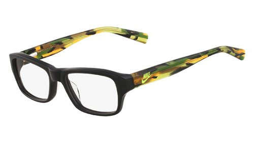 Nike Kid's Prescription Eyeglasses NK5525 015 - Black/Green - Nike Glasses Case