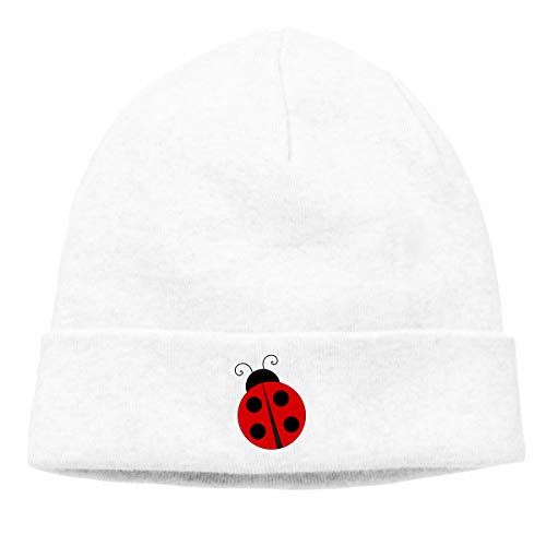 Hip-Hop Knitted Hat for Mens Womens Red Ladybug Unisex Cuffed Plain Skull Knit Hat Cap Head Cap]()