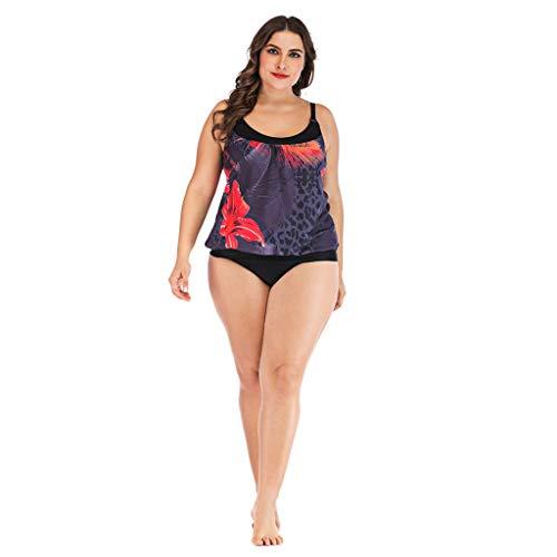 63762c37ed7b6 yijiamaoyiyouxia swimwear Womens Plus Size Swimming Split Swimsuit Floral  Print Tankini Swimsuit Two Piece Bathing Suits