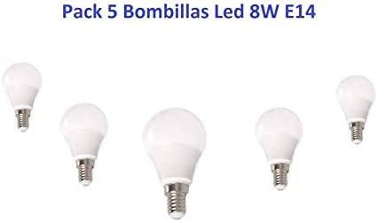 JLRLED Pack 5 Bombilla Led 8W E14 LUZ FRIA: Amazon.es: Iluminación