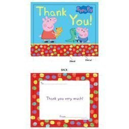 Peppa Pig Dotty Party Thank You Cards Pack Of 6 Amazon Co Uk Toys