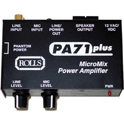 Rolls PA71 MicroMix Power Amplifier, 1 XLR and 2 RCA Inputs