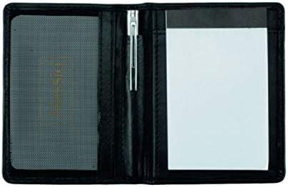 Alassio Notizblock-Etui MONZA Notizbuch Leder (schwarz mit 3 Zusatzblöcken)