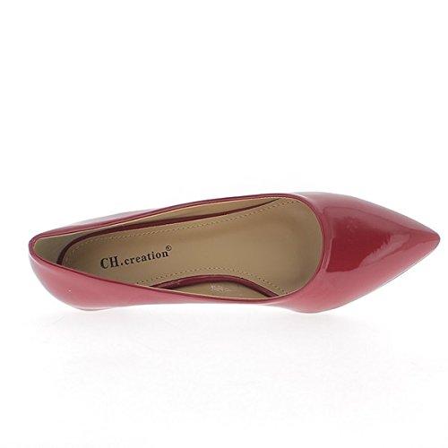Zapatos rojos Polaco afilados tacones pequeños de 3,5 cm