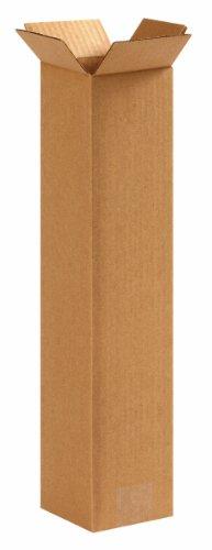 Aviditi 4418 Tall Corrugated Box, 4'' Length x 4'' Width x 18'' Height, Kraft (Bundle of 25) by Aviditi