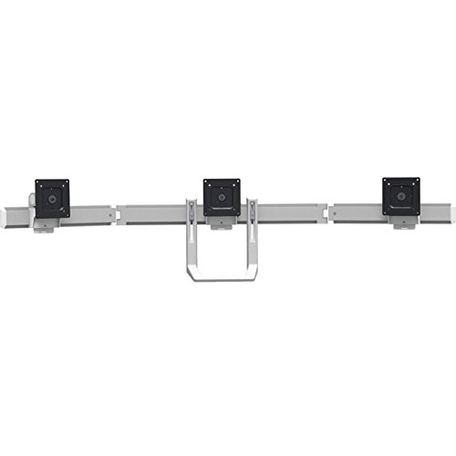 Ergotron 98-009-026 HX Triple Monitor Bow Kit in Polished Aluminum for 2 - 10.2 lbs Monitors by Ergotron