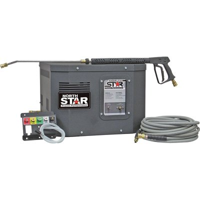 NorthStar Electric Cold Water Stationary Pressure Washer – 3,000 PSI, 2.5 GPM, 230 Volt