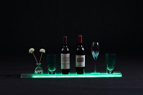 Merging LED Liquor Shelf Bottle Display Bar Shelves 2.6ft with Wall Mount Brackets Wireless Remote and Power Supply for Home Bar 7 Bottles