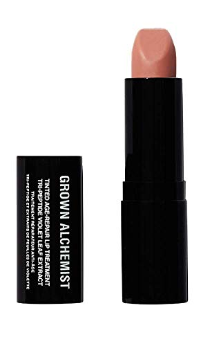 Grown Alchemist Tinted Age Repair Lip Treatment – Tri-Peptide Violet Leaf Extract 3.8 Grams, 0.14 Ounces