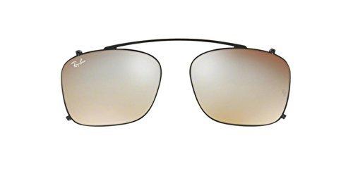 Ray-Ban Men's RX7131C Eyeglasses Black / Mirror Gradient Grey - Clip Ban Ray On