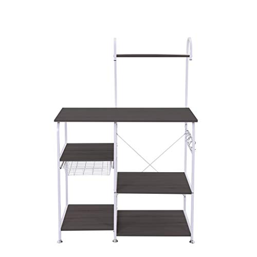 Kitchen Baker's Rack Multifunctional Storage Shelf Microwave Oven Stand 4-Tier+3-Tier Shelf for Spice Rack Organizer Cupboard Workstation (35.4