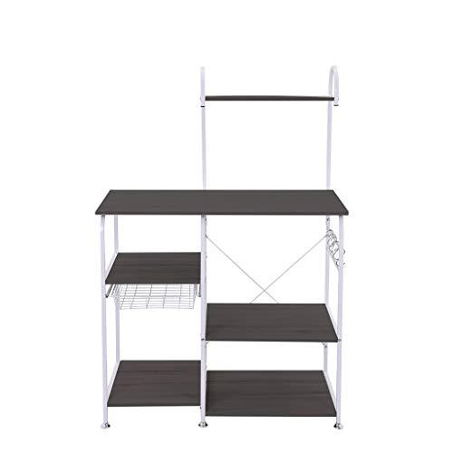 Kitchen Baker's Rack Multifunctional Storage Shelf Microwave Oven Stand 4-Tier+3-Tier Shelf for Spice Rack Organizer Cupboard Workstation (35.4