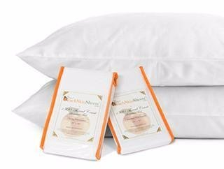PeachSkinSheets Night Sweats: The Original 1500tc Soft King Pillowcase Set Vanilla Bean