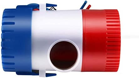 Blanc Rouge et Bleu Generic 12V Pompe /à Eau sous-Marine Marine Pompe de cale de Bateau Submersible Pompe /à Eau 1100GPH utilis/ée dans Le Bateau hydravion Maisons Moteur p/éniche