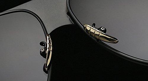 Unisex Vintage Clásicas Marco Gris Redondas Lente Grandes zhxinashu Hombre Aviador Cuadrado Oro De Gafas Retro uv400 Metal Sol WHFf8O4wq