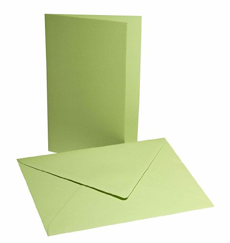 Faltkarten mit Umschlag B6 hellgrün