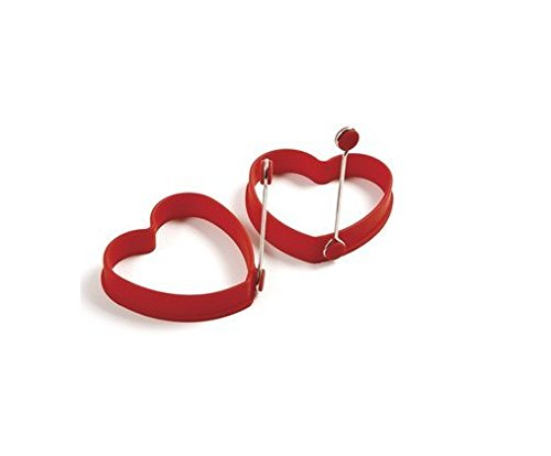 Aute 2PCS Kitchen Cooking Heart Silicone Fried Oven Poacher