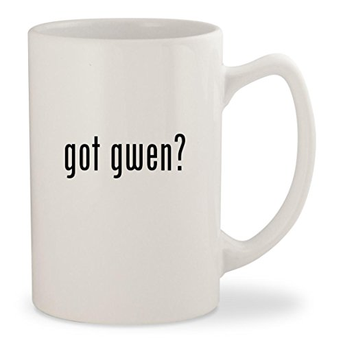got gwen? - White 14oz Ceramic Statesman Coffee Mug - Stefani Gwen Sunglasses
